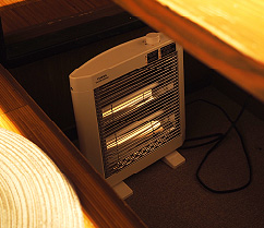 個室の設備 掘りごたつ内足元暖房